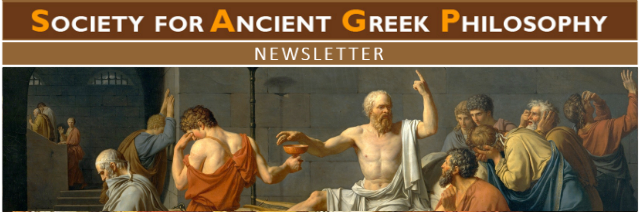 The Society for Ancient Greek Philosophy Newsletter