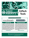 EdTech Tools - 8 Take Aways by Center for Learning and Teaching van Putten