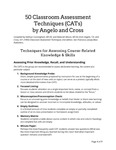 50 Classroom Assessment Techniques by Center for Learning and Teaching (CLT)