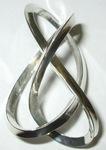 Silver 3-sided Figure 8 Knot, Figure 1