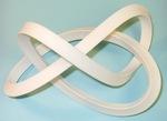 Plastic 1-Sided Mobius Figure 8 Knot, Figure 1