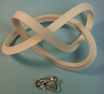 Plastic 1-Sided Mobius Figure 8 Knot, Figure 2 by Alex J. Feingold