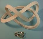 Plastic and Bronze Mobius Figure 8 Knot, Figure 2
