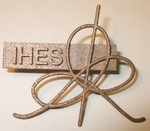 Stainless Steel IHES Logo Lapel Pin