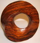 Brazillian Wood Torus Sculpture, Figure 4 (Dark Brown)