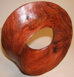 Brazillian Wood Torus Sculpture, Figure 6  (Brown)