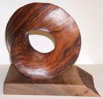 Cocobolo Umbilic Torus with base, Figure 1