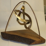 Bronze Figure 8 Hypocycloid Knot with wood base, Figure 1
