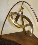 Bronze Figure 8 Hypocycloid Knot with wood base, Figure 2