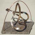 Bronze Figure 8 Knot with Granite Base, Figure 1