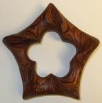 Cocobolo Wood Pentagonal Torus, Figure 1