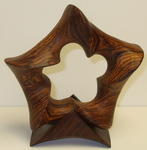 Cocobolo Wood Pentagonal Torus with Base, Figure 1