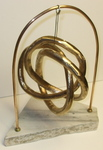 Bronze Triple Knot with Marble Base