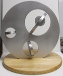Aluminum Disks Operad, Figure 3 (with base) by Alex J. Feingold
