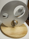 Aluminum Disks Operad, Figure 4 (with base) by Alex J. Feingold