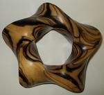 Striped Ebony Pentagonal Torus Nontrivial 5-Crossing Knot, Figure 1