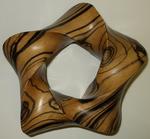 Striped Ebony Pentagonal Torus Nontrivial 5-Crossing Knot, Figure 2