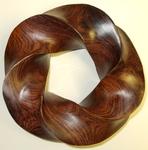 Cocobolo Wood Torus Knot, Figure 1