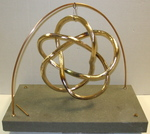 Bronze (3,5) Torus Knot, Figure 3 (with base)