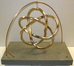 Bronze (3,5) Torus Knot, Figure 3 (with base)