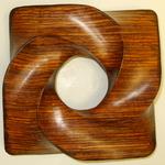 Cocobolo Pinwheel Torus Knot, Figure 1