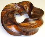 Cocobolo Wood (4,5) Torus Knot, Figure 3 (side view)