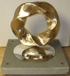 Bronze (3,5) Torus Knot, Figure 8 (with base)