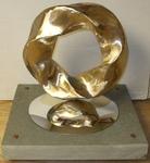 Bronze (3,5) Torus Knot, Figure 8 (with base)