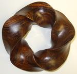 Cocobolo Wood (3,5) Torus Knot, Figure 1
