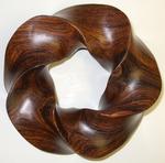 Cocobolo Wood (3,5) Torus Knot, Figure 2
