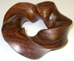 Cocobolo Wood (3,5) Torus Knot, Figure 3