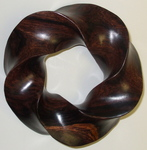 Cocobolo Wood (3,5) Torus Knot, Figure 4