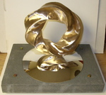 Bronze (4,5) Torus Knot with Base, Figure 1