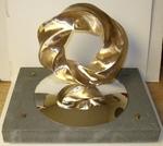 Bronze (4,5) Torus Knot with Base, Figure 1