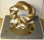 Bronze (4,5) Torus Knot with Base, Figure 2