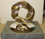 Bronze (4,5) Torus Knot with Base, Figure 3