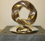 Bronze (4,5) Torus Knot with Base, Figure 4