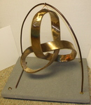 Bronze Mobius Trefoil Knot with Base, Figure 3