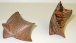 Claro Walnut and Zebrawood Twists, Figure 1