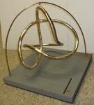 Bronze Figure 8 Knot, Figure 4 (with base)