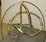 Bronze Figure 8 Knot, Figure 5 (with base)