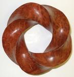 Coolibah Burl Red (4,5) Torus Knot, Figure 1