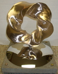 Bronze (3,5) Torus Knot, Figure 15 (with base)