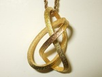Matt Gold Steel Mobius Figure 8 Knot