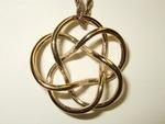 Bronze Tubular (3,5) Torus Knot