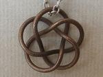 Bronze Steel Tubular (3,5) Torus Knot