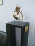 Bronze Mobius Trefoil Knot Installation, Figure 2