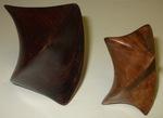 Cocobolo, Big Leaf Maple Burl Twists