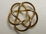 Gold Plated Tubular Torus (3,5) Knot