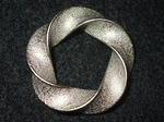 Nickel Steel Python (3.5) Torus Knot Pendant